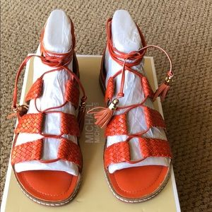 Michael Kors gladiator sandals. Original box
